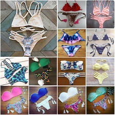 2015 New Women Bandage Push-up Bikini Set Padded Bra Triangle Swimwear