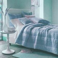 Quilt Comforter Casa by The Company Store 100% Cotton Light Blue Color Was $ 289