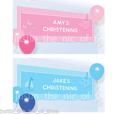 4ft Boy or Girl Personalised Banner Baby Christening Communion Party Decoration