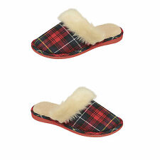 Womens Ladies Girls Fur Mules Slippers Soft Cosy Furry Slip On Shoes Size UK 3-8