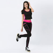 Women's cloth Legging Trouser Running Elastic Sport Yoga Pants Casual suit Set
