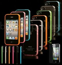Luminous Ultra-thin Clear Transparent Bumper Protective Case For iPhone 4 4S