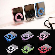 7 Colors Mirror Mini Clip MP3 Music Player Support 1-8GB Micro SD TF Memory Card