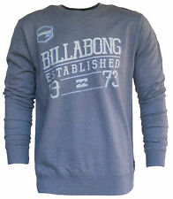 BILLABONG New Mens Fleece Crew Jumper Pullover Size (S M) COINEY Grey