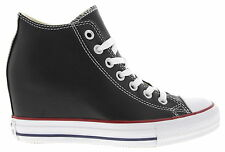 Womens Chuck Taylor All Star Lux Hidden Wedge Sneakers in Black Leather