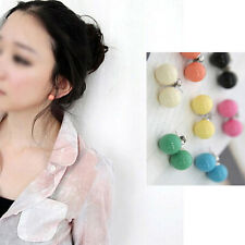 Hot sale 1 pair Lovely Cute Candy Colourful Disco Round Ball Earrings Ear Studs