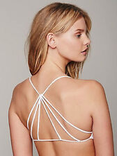 NEW Free People Intimately White Seamless Strappy Back Bra Size XS/S-M/L $30
