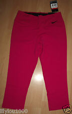 NIKE PINK DRI FIT LEGENDARY TIGHT FIT CROP TROUSERS SIZE L NWT