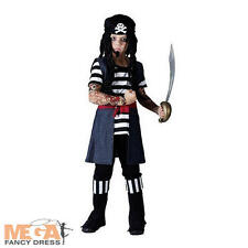 Boys Tattoo Pirate Boy Fancy Dress Kids Child Book Week Costume Outfit Ages 4-12