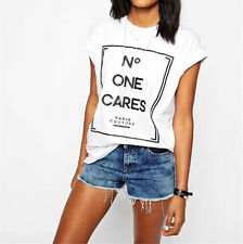 New Women Nice Short Sleeve Letter Printed Causal Clothing Shirt Blouse Tops