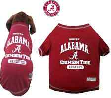NCAA Pet Fan Gear ALABAMA CRIMSON TIDE Tee Shirt Tank for Dog Dogs 100 % COTTON