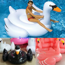 Summer Swimming Pool Kids Giant Rideable Swan Inflatable Float Toy Good quality