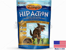 Zukes Hip Action Dog Treats Grain Free Peanut Butter w/ Glucosamine USA Made