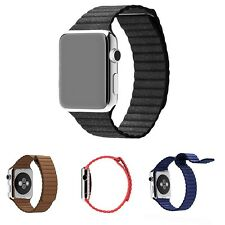 Leather loop watch band strap For Apple Watch Magnetic Closure 38mm 42mm JW1443
