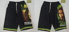NEW Bob Marley Rasta Reggae Marijuana Black Board Shorts - Free Size - 2 Designs