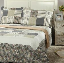 Spring Morning Country 3-2 PC Reversible Floral Printed Bedspread Coverlet Set