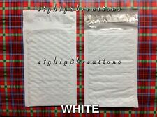 WHITE Color 4x7.5 Bubble Poly Mailers Shipping Padded Packaging Envelopes Bags