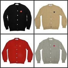 Ricky_c.s.a.k Unisex Hot Sell Comme des Garcons Play Knitted Cardigan Sweater