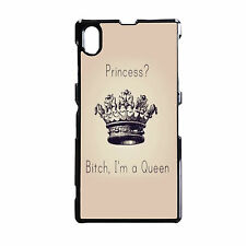PRINCESS QUEEN PINK GIRLY  PHONE CASE FITS SONY EXPERIA Z Z1 Z2 Z3 & COMPACT.