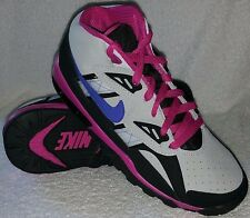 New!! Girls's Nike-Air Trainer SC High Top Shoes Platinum/Violet/Black/Pink B36