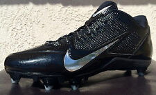 Mens Nike Alpha Pro Low D Mens Football Cleats Size 12 Black/Silver Detachable