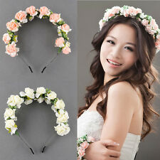Flower Garland Floral Bridal Headband Hairband Wedding Prom Hair Accessories HS