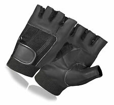 NEW WEIGHT LIFTING PADDED LEATHER GLOVES FITNESS TRAINING CYCLING BIKE BICYCLE