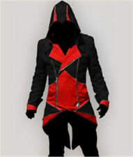 Rulercosplay Assassin's Creed 3 Connor Kenway Jacket Hoodie Cosplay black +red