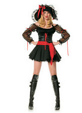LEG AVENUE 83215 SEXY SWASHBUCKLER PIRATE BLACK DRESS COSTUME-Size: S-M-L-XL-XXL
