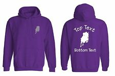 Personalised Embroidered Jumping Horse Hoody Equestrian Hoodie Adults Kids