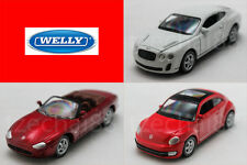 Welly 1:60 DIECAST Bentley / Jaguar / Volkswagen Car Model COLLECTION New Gift