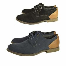 Mens New Brogue Faux Suede Lace Up Formal Casual Fashion Desert Shoes UK 6-12