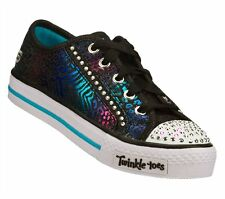 New Girl's Skechers 10331L Twinkle Toes Shufles Gimmie Glam Light Up Shoes