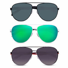 Quiksilver Fashion Mens Retro Vintage Sunglasses Mirror Frame Aviator Sunglass