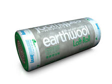 Insulation Knauf Earthwool Loft Rolls 200mm Thickness, 5.93m2 Per Roll Combi Cut