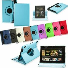 Leather 360 Swivel Rotating Smart Cover Case Stand For Kindle Fire HDX 7.0 2013