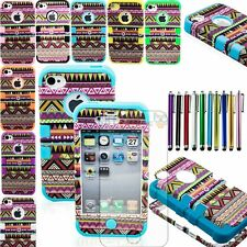 Bohemia Tribal Pattern Hybrid Hard Soft Combo Case Cover for iPhone 4 4S +Gifts