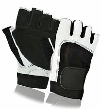 Brand New Leather Bus Driving Gloves Finger Less Cycling Gym Wheelchair Training