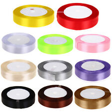 "3/4"" 19mm 25 Yards Silk Ribbon Wedding Party Favor Decor Craft Gift Wrapping"
