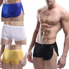 New Hot Sexy Cool Men's Split Underwear Boxer Brief Shorts Mesh Comfortable Wear