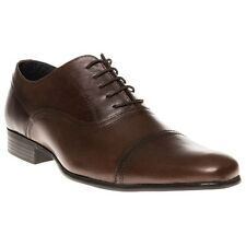 New Mens Red Tape Brown Almond Leather Shoes Lace Up