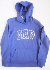 Gap Women's Arch Logo Fleece Hoodie NWT Pullover Purple Sizes XS S