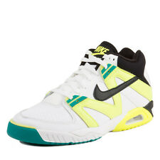 Nike Mens Air Tech Challenge III White/Black/Volt-Radiant Emerald 749957-100