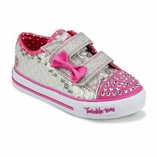 Sketchers Twinkle Toes Shuffles Sweet Steps Light Up Shoes 5 6 7 8