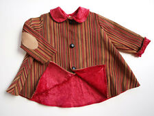 Girls Coat Gorgeous fully lined Vintage Inspired Jacket striped cord  1,2 & 3