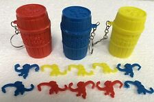 Monkeys In The Barrel Key Chain Ring Keychain - Choose from 3 Colors!