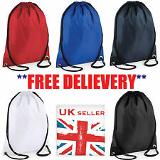 1 3 5 10 20 25 50 100 WATERPROOF BAG DRAWSTRING BACKPACK GYM PE DUFFLE Wholesale