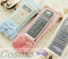 3 Pcs 1 Set Remote Controller Cover Dustproof Lace Bowknot TV AirConditioner HOT