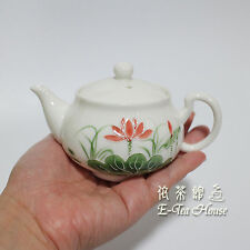 Small Chinese Porcelain Hand Paint Lotus Flower Teapot ~160CC