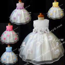 #HM41 HANDMADE Flower Girls/Christening/Formal/Pageant Gowns Dresses 0-3 Years